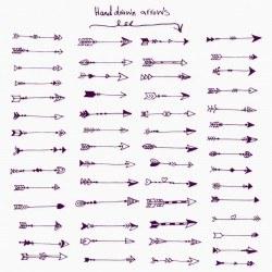 Big handdrawn arrows collection