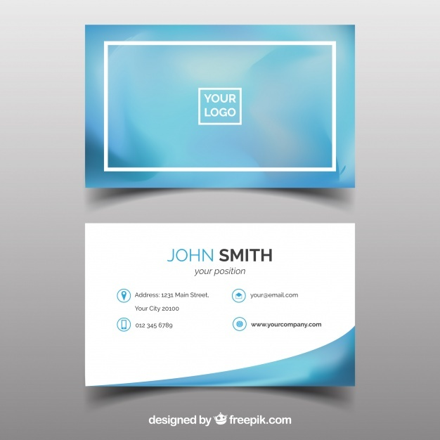 Blurred business card