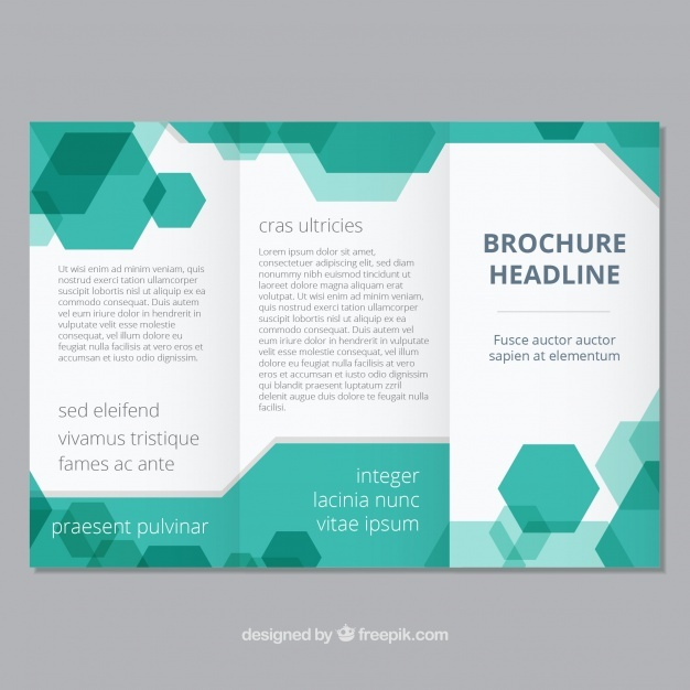Brochure template with geometric style