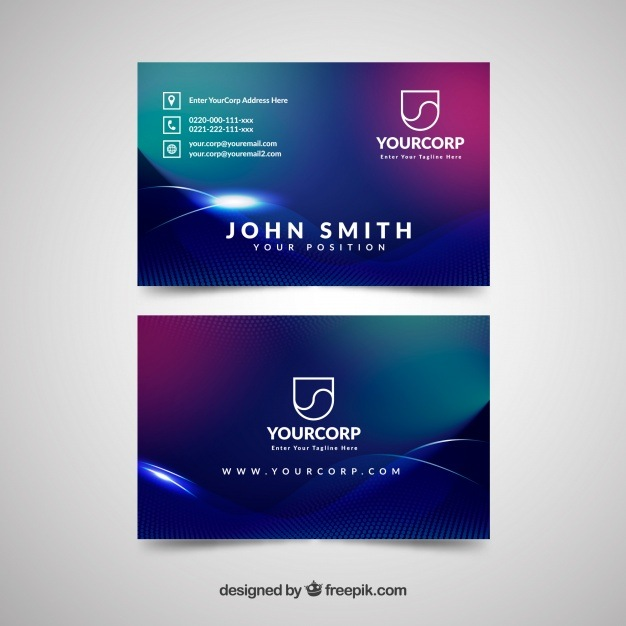 Business card with space style
