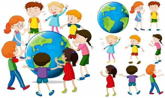 Children around the earth