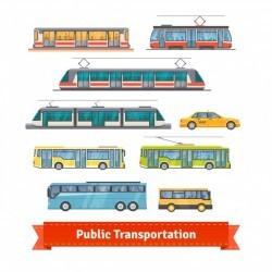 City and intercity transportation vehicles set