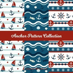 Colorful anchor pattern