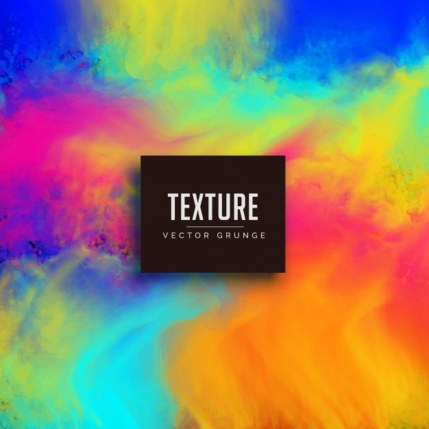 Colorful bright watercolor texture vector background
