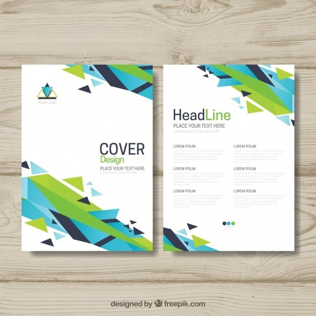 Colorful brochure with abstract shapes