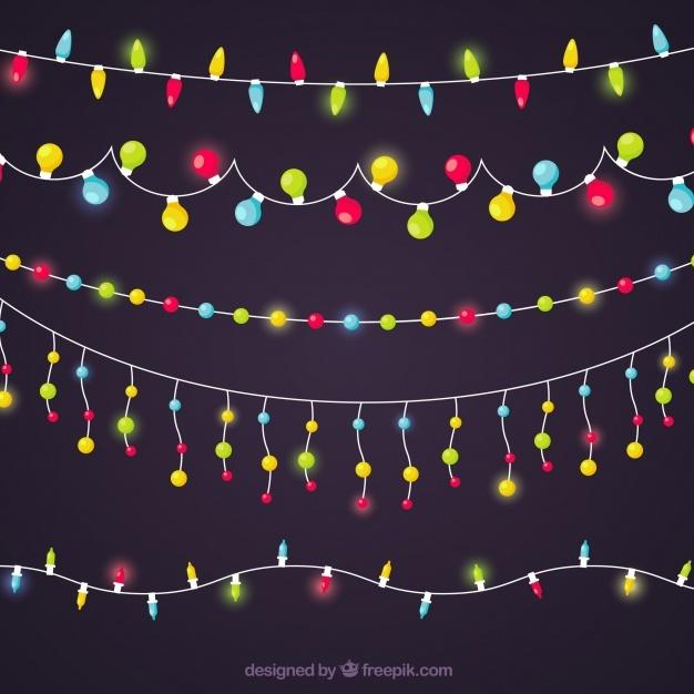 Colorful christmas light collection
