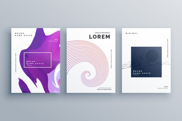 Creative brochure design template in A4 size minimal style