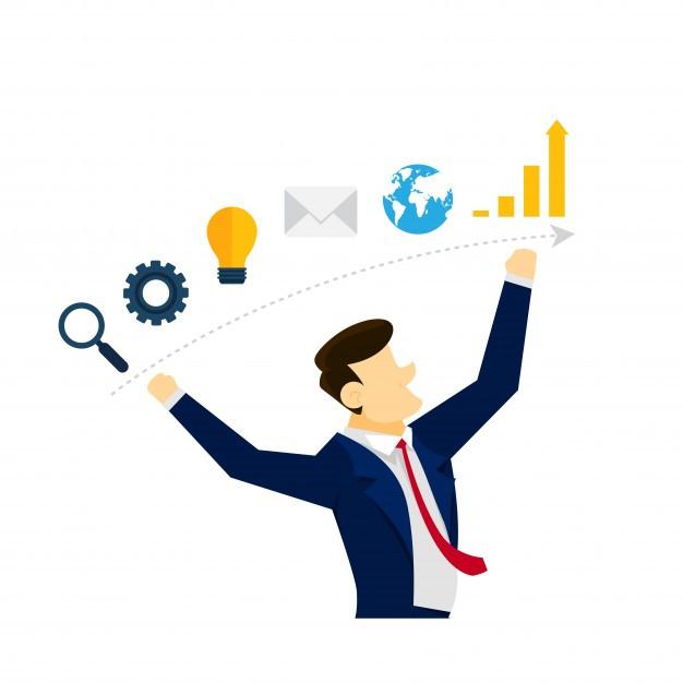Creative Business Strategy Idea Illustration Concept
