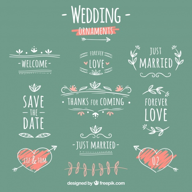 Creative wedding ornament collection