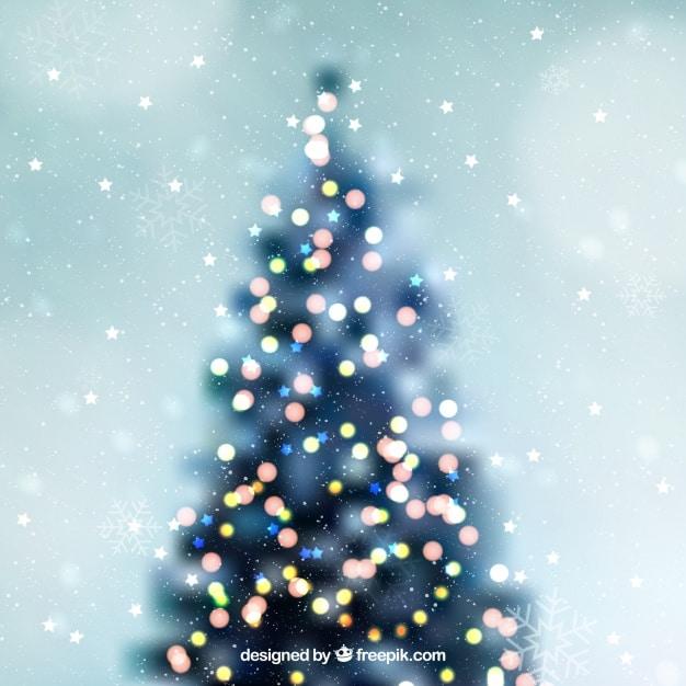 Defocused christmas tree background