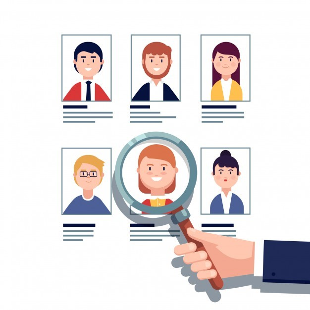 Employee hiring research concept