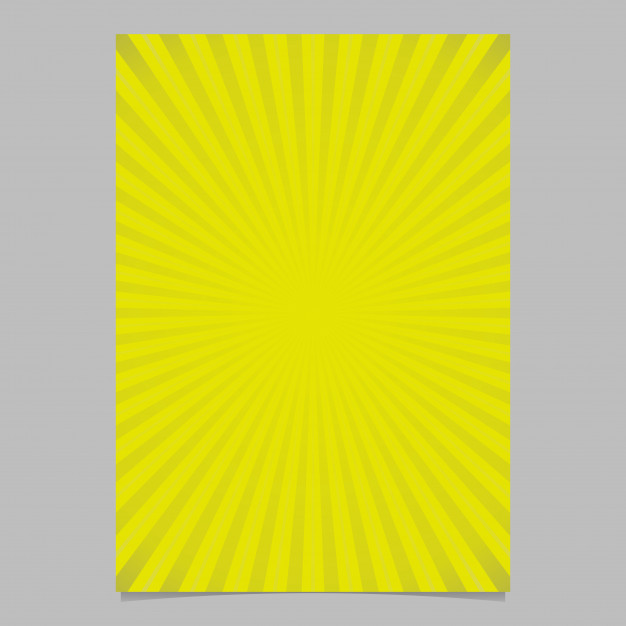 Geometric gradient abstract sun rays brochure cover template