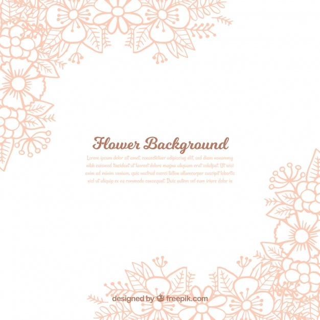 Hand drawn floral background with lovely style