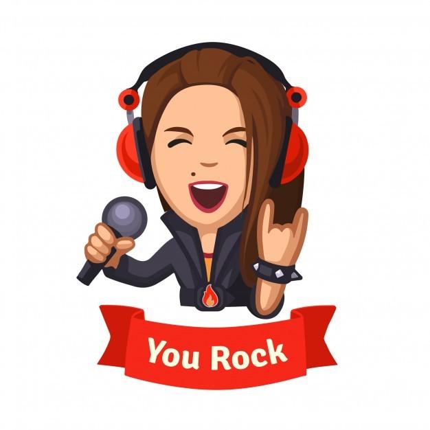 Hard rocking singer girl