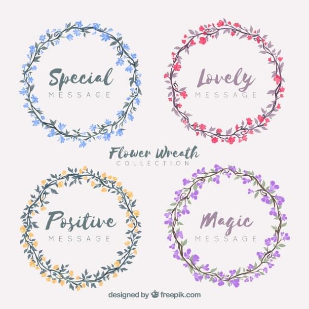 Multicolor floral wreath