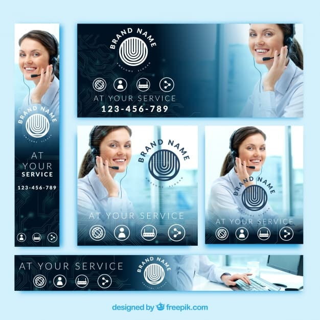 Professional pack of business banners