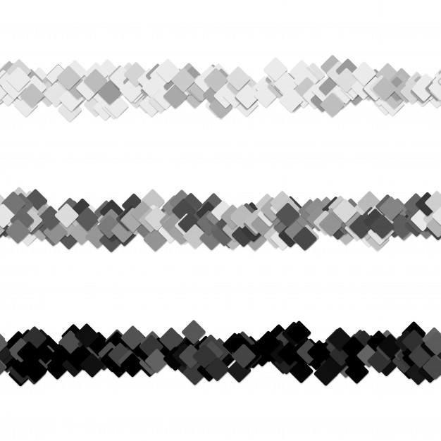 Repeatable random square pattern page separator line design