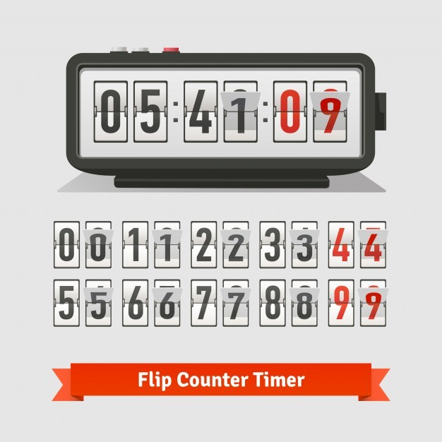 Table flipping timer clock and counter template