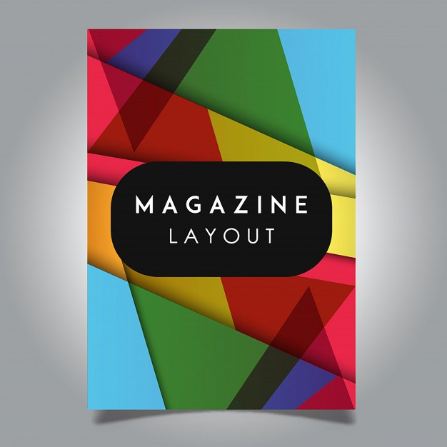 Vector Abstract Magazine Layout Template Designs