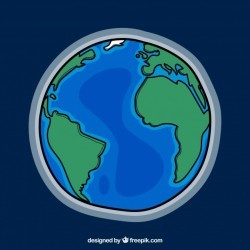 Earth globe background