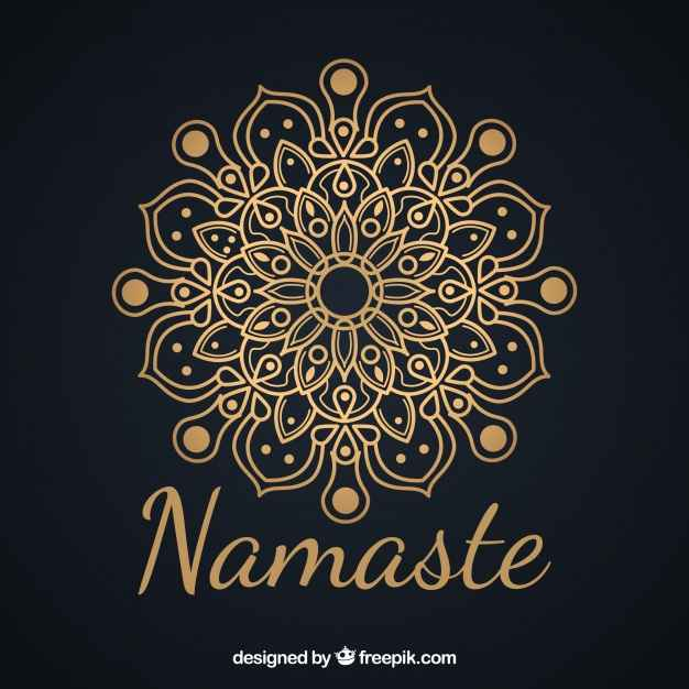 Elegant background of namaste with mandala