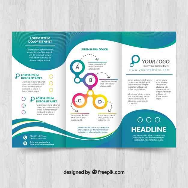 Elegant brochure template with waves