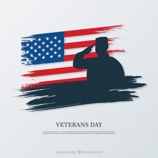 Elegant veterans day design