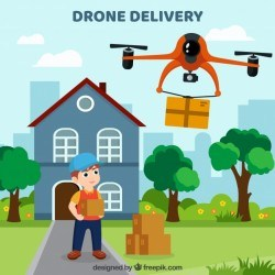 Lovely drone delivery compoosition