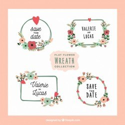 Lovely pack of flower wreaths