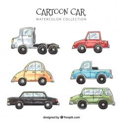 Lovely pack of watercolor cars
