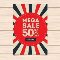 Modern Mega Sale Banner And Flyer Illustration
