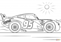 Lightning Mcqueen From Cars Coloring Page
