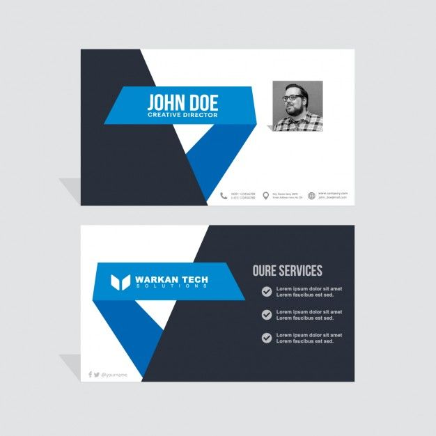Black and blue business card epin free graphic clipart black and blue business card reheart Image collections